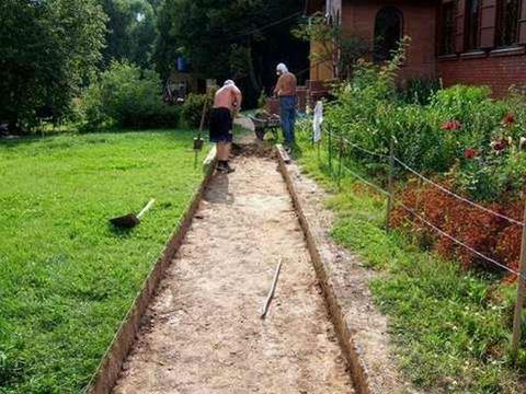 одготовка основания для укладки тротуарной плитки