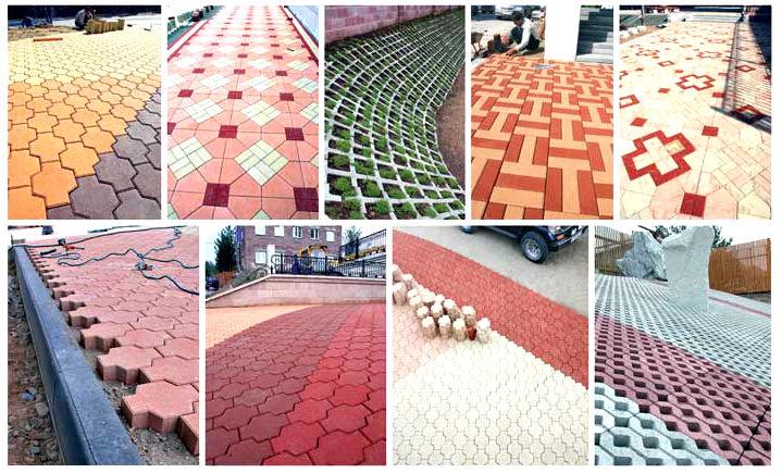 Тротуарная плитка вибролитье