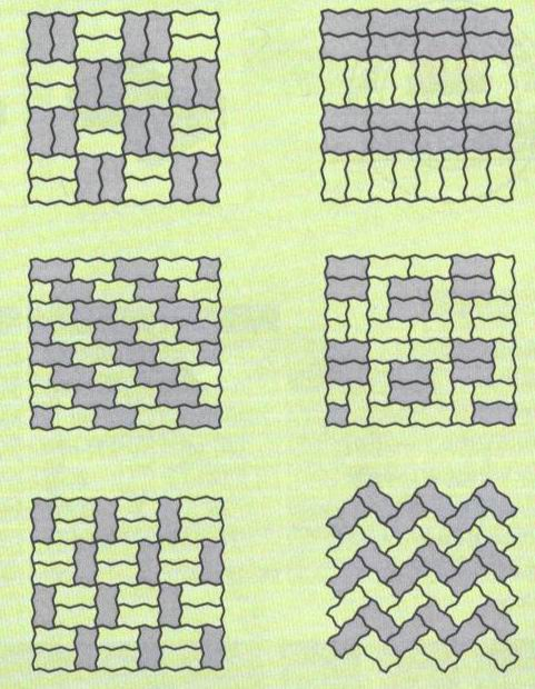 Схема волна укладки брусчатки